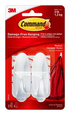Command™ Medium Designer Hooks (Holds upto 1.3kg)