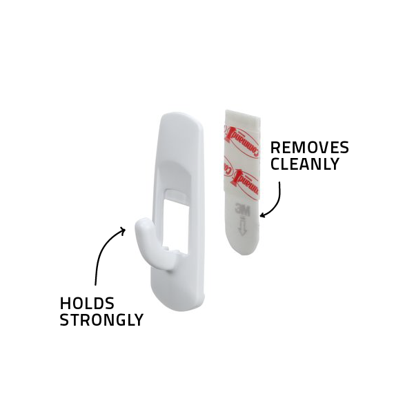 Command™ Small Utility Hooks (Holds upto 450g)