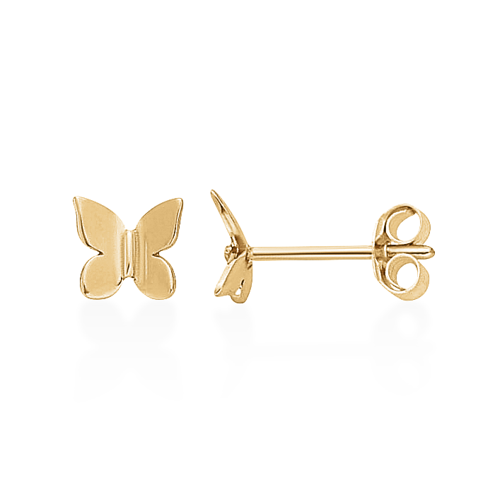 Butterfly Studs-Gold-Single-Phyllis + Rosie