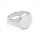 Oval Signet Ring-Sterling Silver-4-Phyllis + Rosie