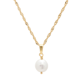Pearl Necklace-Gold-Phyllis + Rosie
