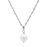 Pearl Necklace-Sterling Silver-Phyllis + Rosie