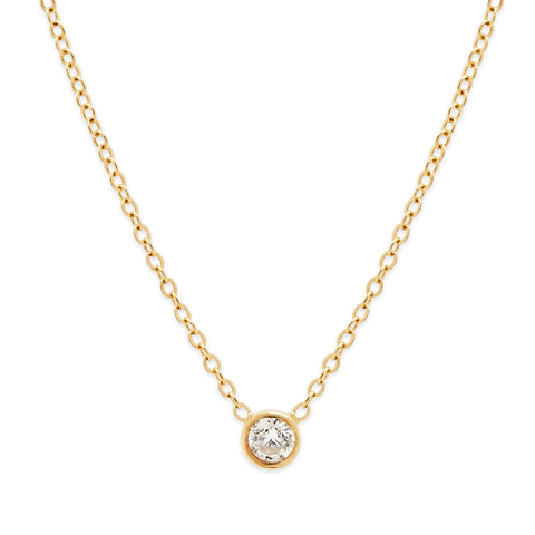 Perfect Diamond Necklace-Gold-Phyllis + Rosie
