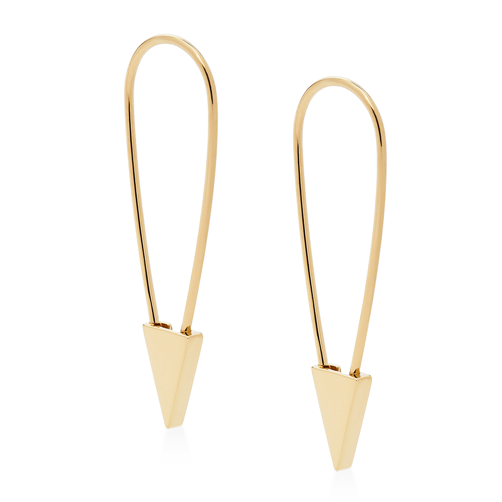 Safety Pin Earring-14K Gold Vermeil-Single-Phyllis + Rosie