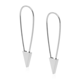 Safety Pin Earring-Sterling Silver-Single-Phyllis + Rosie