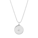 Sliding Diamond Locket-Sterling Silver-Phyllis + Rosie
