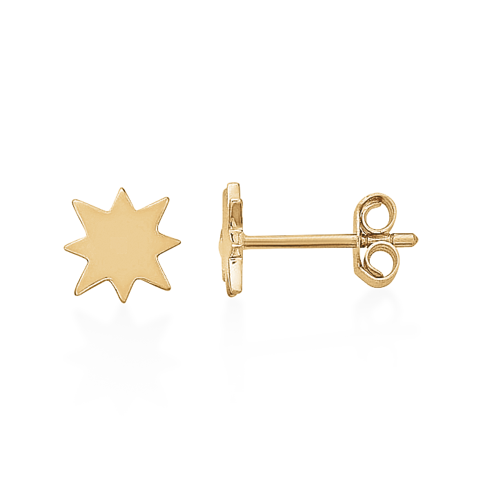 Starburst Studs-Single-Gold-Phyllis + Rosie