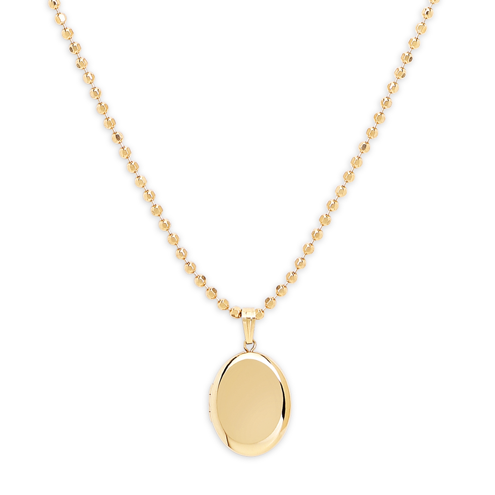 Locket Necklace-Gold-Phyllis + Rosie