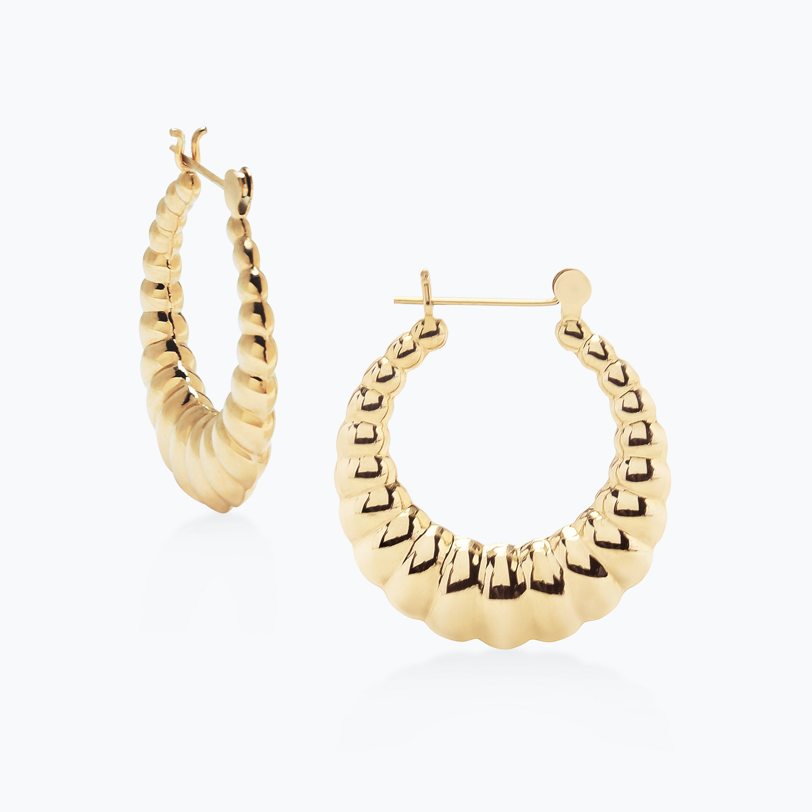Medium Scallop Hoops