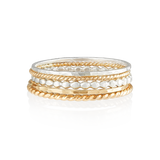 Mixed Ring Stack-Gold-Phyllis + Rosie