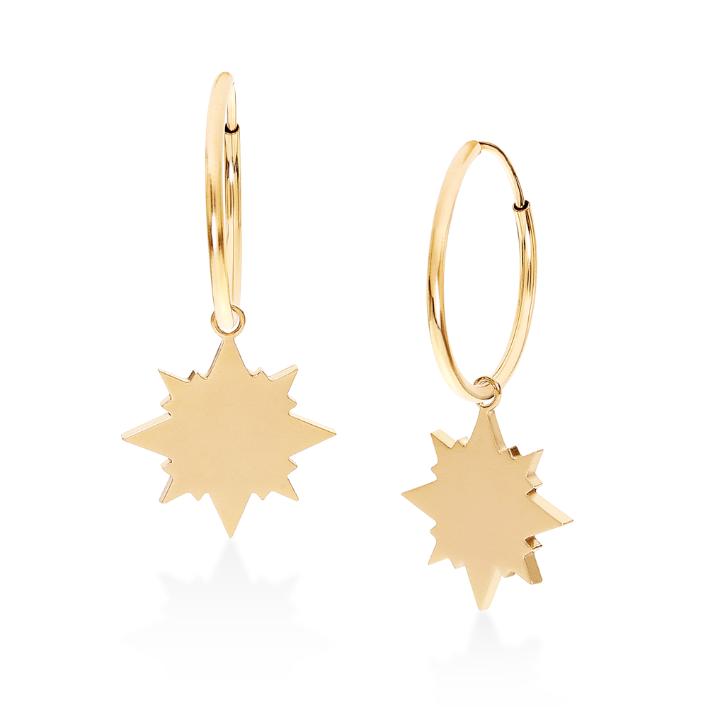 Starburst Hoops-14K Gold Filled-Single-Phyllis + Rosie