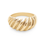 Wave Ring-14K Gold Vermeil-6-Phyllis + Rosie