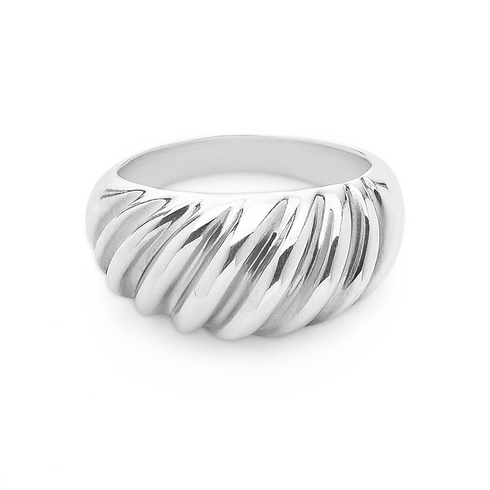 Wave Ring-Sterling SIlver-6-Phyllis + Rosie