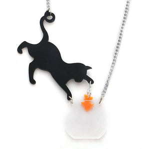 Bad Kitty Earrings & Necklace Set - BellePark