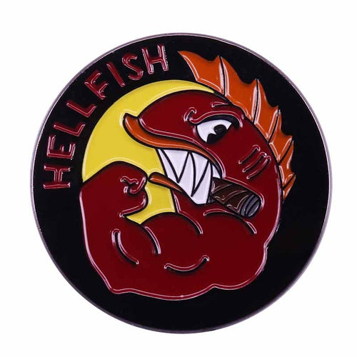Flying Hellfish Logo Enamel Pin - BellePark