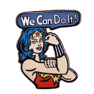 Wonder Woman We can do it Pin - BellePark