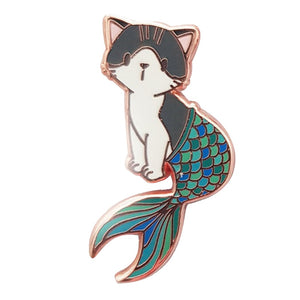 Mermaid Kitty Enamel Pin - BellePark