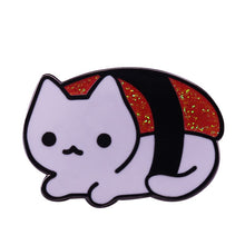 Load image into Gallery viewer, Sushi Cat Enamel Pin - BellePark