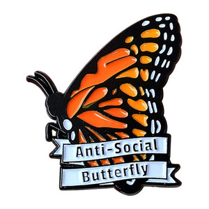 Anti Social Butterfly Pin - BellePark