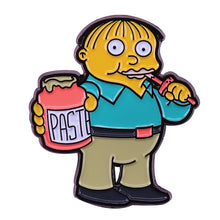 Load image into Gallery viewer, Ralph Wiggum Eats Paste Enamel Pin - BellePark