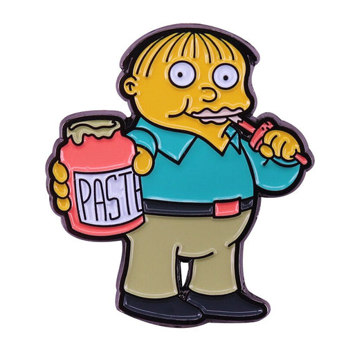Ralph Wiggum Eats Paste Enamel Pin - BellePark