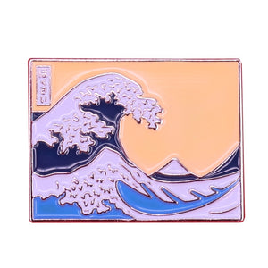 The Great Wave Enamel Pin - BellePark