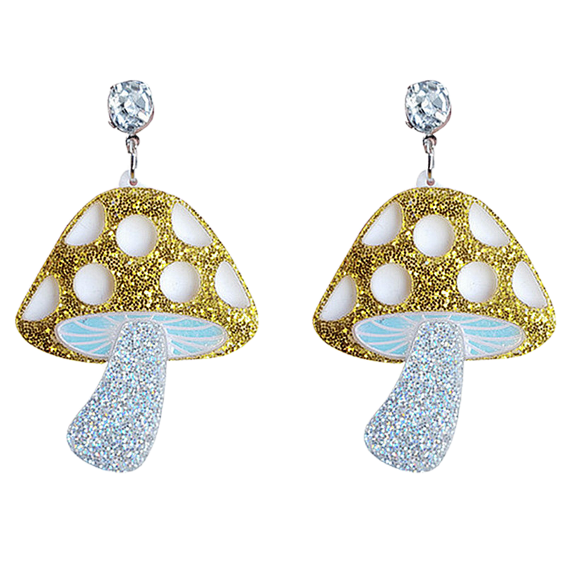 Sparkly Shrooms Earrings - BellePark