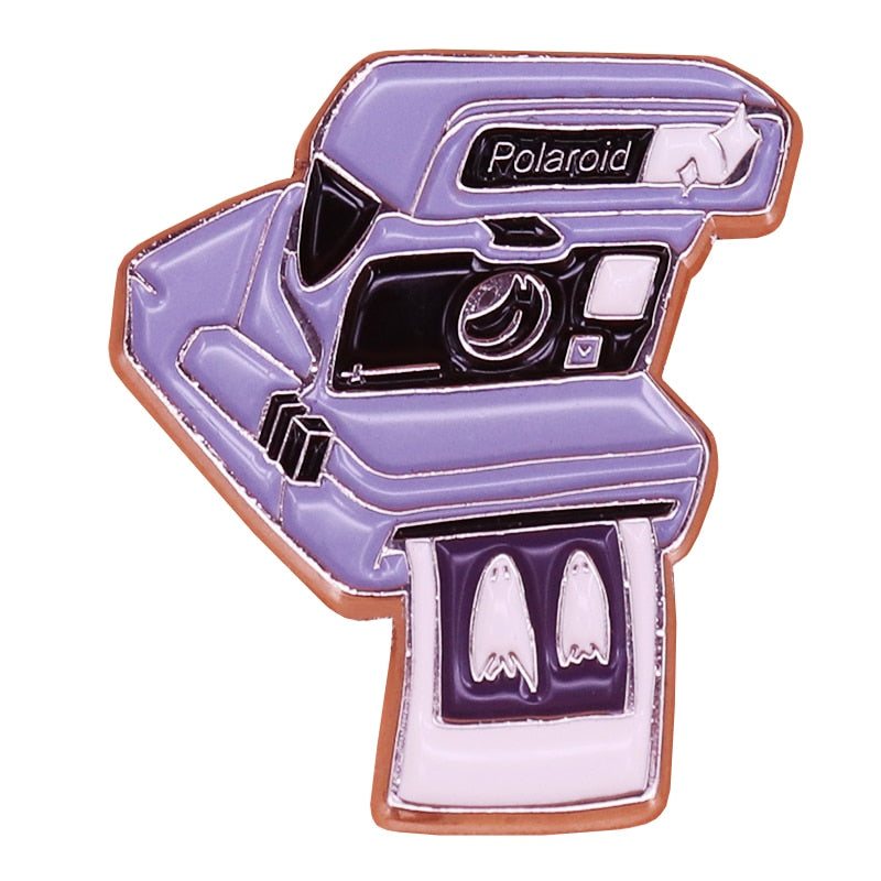 Polaroid No Feet Enamel Pin - BellePark
