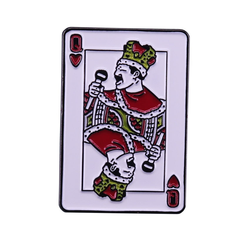 Freddie Mercury - Queen of Hearts Pin - BellePark