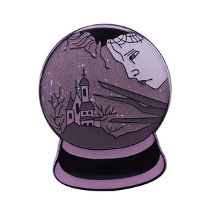 Edward Scissorhands Crystal Ball Pin