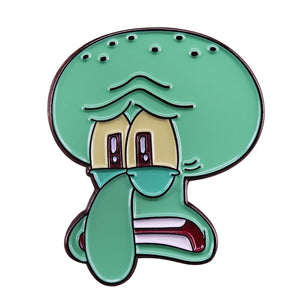 Squidward Meme Pin