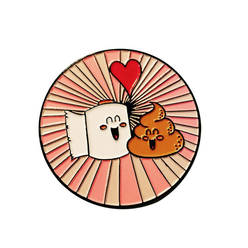 Poop And Toilet Paper Enamel Pin - BellePark