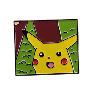 Surprised Pikachu Meme Enamel Pin - BellePark
