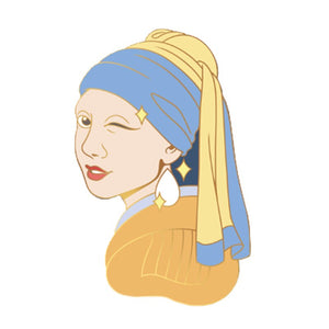 Girl with the Pearl Earring Enamel Pin - BellePark