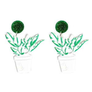 Pot Plant Laser Cut Acrylic Earrings - BellePark