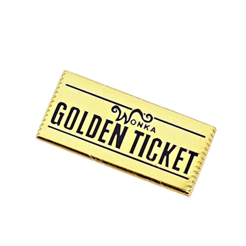 Wonka's Golden Ticket Pin - BellePark