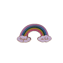 Load image into Gallery viewer, Magical as Fuck Rainbow Pin