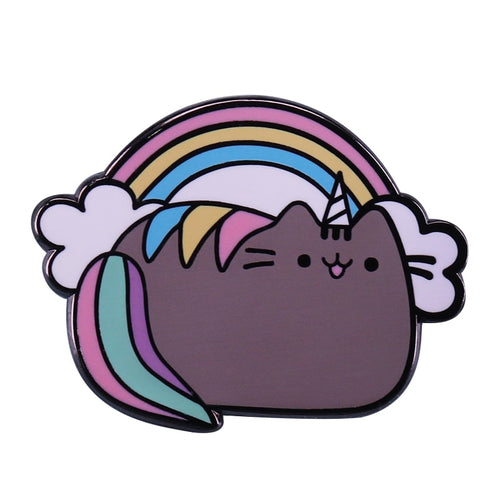 Unicorn Pusheen Enamel Pin - BellePark