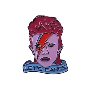 David Bowie Let's Dance  Enamel Pin - BellePark