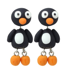 Penguin Polymer Clay Earrings - BellePark