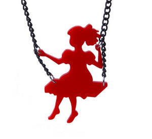 Swinging Girl Necklace - BellePark