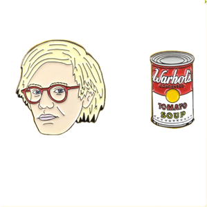 Andy Warhol and the Campbell's Soup Enamel Pin Set - BellePark