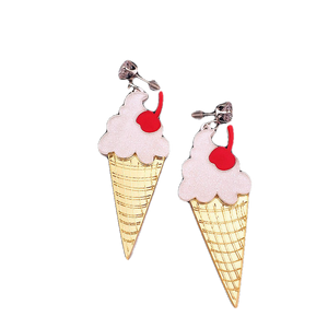 Pretty Please with a Cherry on Top Earrings - BellePark