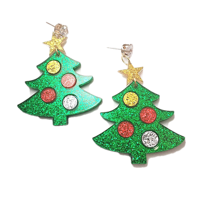 Christmas Collection - Christmas Tree Earrings - BellePark
