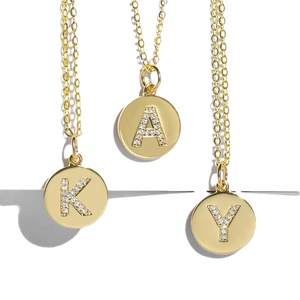 Monogram Pendant Necklaces - BellePark