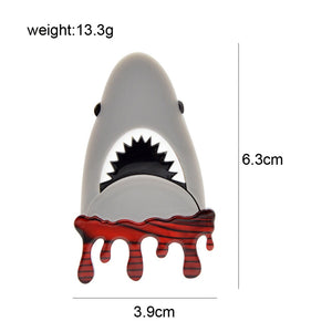 Jaws the Shark Do Do Do Do Brooch - BellePark