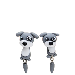 Grey Weimaraner Puppy Earrings - BellePark