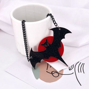 Bat in the Blood Moon Necklace - BellePark