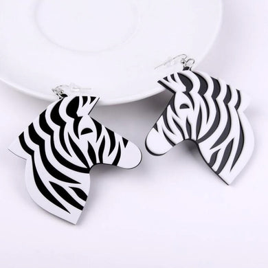 Racing Stripes Zebra Earrings - BellePark