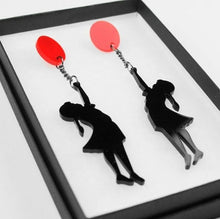 Load image into Gallery viewer, Girl with Balloon Banksy Earrings - BellePark